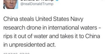 Trump Accuses China Of 'Unpresidented' Act Over US Navy Drone