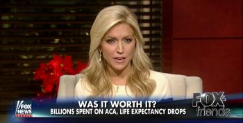 Fox News Tries To Blame Obamacare For A Drop In Life Expectancy