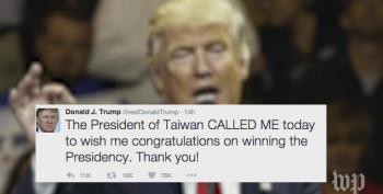 Trump's Taiwan Phone Call Was Planned Long In Advance