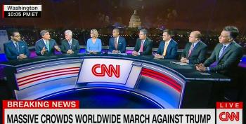 CNN Impanels Eight Men And One Woman To Cover Historic Women's March