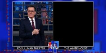 The Late Show Reenacts W.H. Cabinet Meetings In The Dark