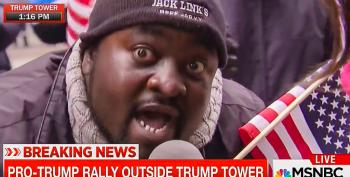 Pro-Trump Protester Tells MSNBC Trump Is 'Not Racist': 'I Don't Hold Him To His Words'