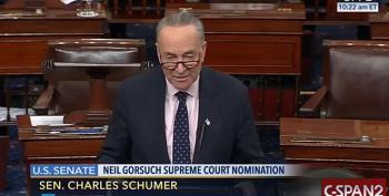 Sen. Chuck Schumer Will Filibuster Neil Gorsuch's Nomination