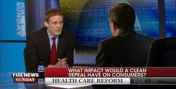 Chris Wallace Hammers Jim Jordan: Would You Agree Clean Repeal Would Have Left Millions Without Insurance?