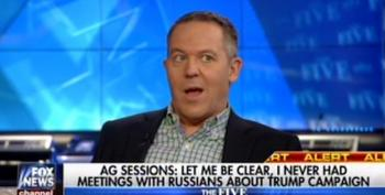 Fox's Greg Gutfeld Suggests Sen. Franken Duped Sessions Into Lying About Contacts With Russia