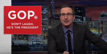 John Oliver's New GOP Slogan: 'Don't Laugh, He's The President'