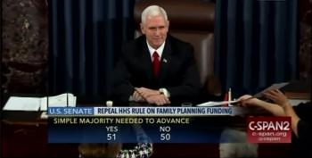 Pence Casts Tie-breaking Vote To Defund Planned Parenthood