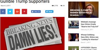 Fake News Site Thanks 'Gullible Trump Supporters' After Gaining 1 Million Views