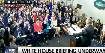 Sean Spicer Instantly Regrets His Sarcasm On Trump's Press Availability