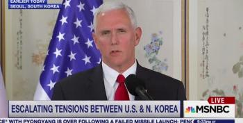 Pence Admits Bombs Dropped Last Week Were Warning To North Korea