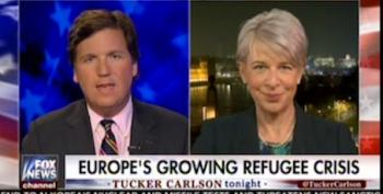 Tucker Carlson Uses Paris Attack To Plug Far-Right Nationalist Candidate Marine Le Pen