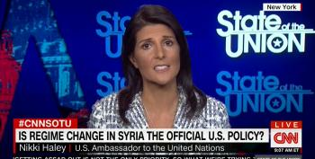 Nikki Haley Calls Regime Change In Syria 'Inevitable'