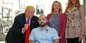 Trump Congratulates Purple Heart Recipient