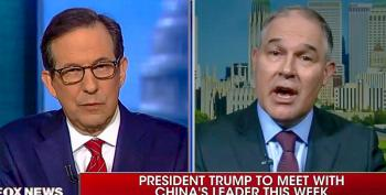 Chris Wallace Repeatedly Calls B.S. On Scott Pruitt's Climate Denials: 'All Kinds Of Studies Contradict You'