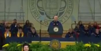 Notre Dame Grads Walk Out On VP Pence