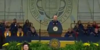 Notre Dame Grads Walk Out On VP Pence