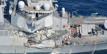 Disgusting: 7 Navy Sailors Die At Sea In Japan Collision, 48 Hours Later Trump Is Still Useless