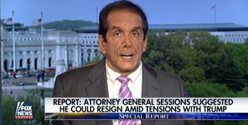 Krauthammer Alarmed About Rumors Of Sessions Resignation: 'This Is Really Bad!'