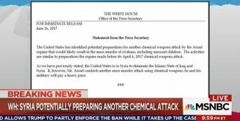 Sean Spicer Issues Statement On Syria No One Should Believe