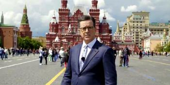 For His 'Russia Week,' Colbert Quizzes Actual Russians On Election Hacking