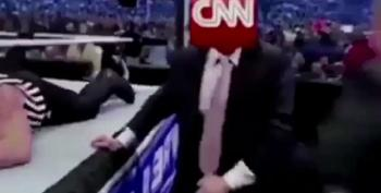 Donald Posts Bizarre Wrestling GIF Attacking CNN To Twitter