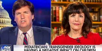 Tucker Carlson Links Trans People To 'Child Abuse' -- And Then Trump Bans Them From Military