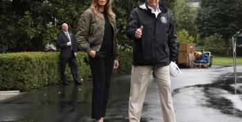 Melania Rocks The Runway En Route To Houston