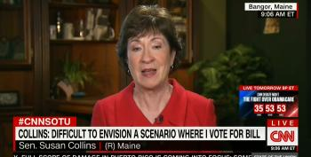 Sen. Susan Collins: 'Very Difficult For Me To Envision A Scenario' Where She Backs ACA Repeal Bill