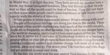 'Letter Of The Week' Slams Neo-Nazis In The Best Way