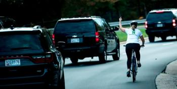 Woman Who Flipped Off Trump's Motorcade Is Fired