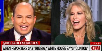 Brian Stelter Busts Kellyanne Conway For Deflecting: 'When I Say Russia, You Say Clinton'