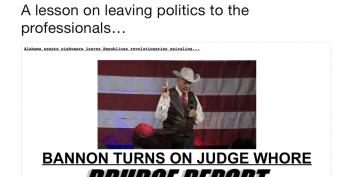 More GOP Civil War! Drudge Goes After Steve Bannon/Roy Moore