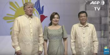 Trump Laughs As Duterte Calls Journalists 'Spies'