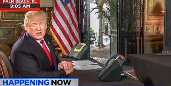 In Mar-a-Lago Video Conference, Trump Tells Troops: 'We Say Christmas Again Very Proudly'