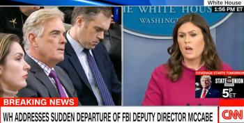 'We've Seen The Reports': Sarah Sanders Claims Trump Learned About McCabe's Ouster From Media