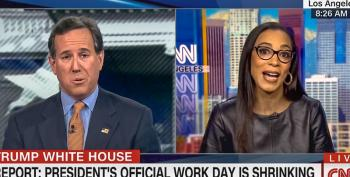 WATCH: Angela Rye Puts Santorum In His Place After He 'Talks Down' To Her