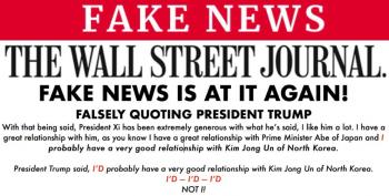 White House Attempts To Gaslight The Wall Street Journal Over Trump Quote And It Doesn't Go Well