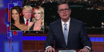 Stephen Colbert Mocks Trump's Porn Star Playmate Pay-Offs (Alleged)