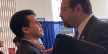 WATCH:  Seb Gorka Physically Threatens Reporter At CPAC