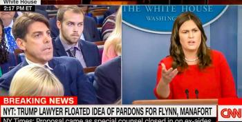 Huckabee Sanders Insists Trump Is Not Going To Pardon Manafort And Flynn 'At This Time'