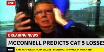 Mitch McConnell Is Afraid Of Blue Hurricane Coming In November