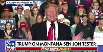 Trump Makes Empty Threat To Sen. John Tester At Michigan Rally