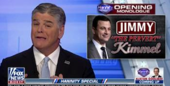 Hannity Goes Bonkers Over Jimmy Kimmel: 'I'll Roll Tape' On Him 'Every Night For The Rest Of My Career'