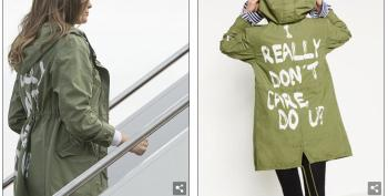 'I Really Don't Care, Do U?': Melania's Jacket Really Says It All