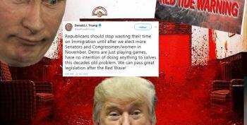 Russia? Blood? Killer Algae? Twitter Cracks Up As Trump Promises 'Red Wave'