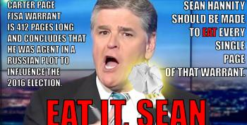 Open Thread - Eat It, Sean Hannity