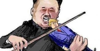 Trump Bats Eyelashes At Kim Jong-Un's 'Very Nice Note'
