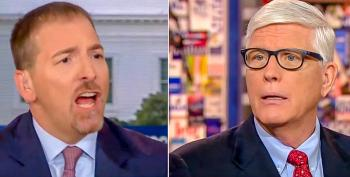 'I'm Tired Of That': Chuck Todd Slams Hugh Hewitt For Lying About How The Media Reports On Trump And Russia