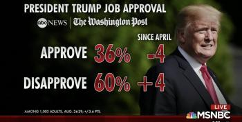 Donald Trump's Approval Ratings Tank, While Disapproval Ratings Reach An All Time High Of 60%