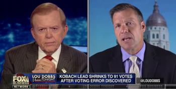 Lou Dobbs 'Delighted' Kobach Won't Recuse From Kansas Canvass